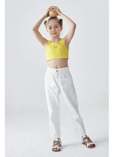 Tyess Kız Çocuk Ekru Pantolon  Ekru